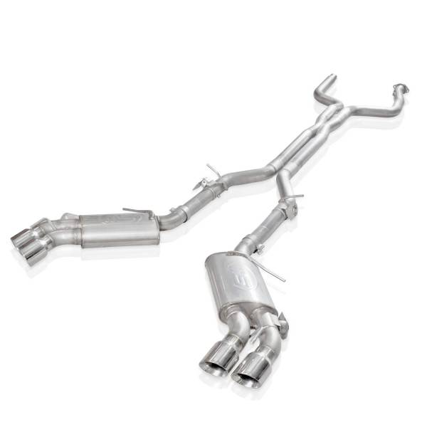 """Stainless Works - Stainless Works Catback w/AFM Valve & NPP Valve with Quad 4"""" Tips"""