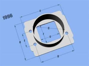 Sensors - Mass Air Flow Sensor Adapter - Vibrant Performance - Vibrant Performance AlMAFSensorToyota3in.IDFltr 1996