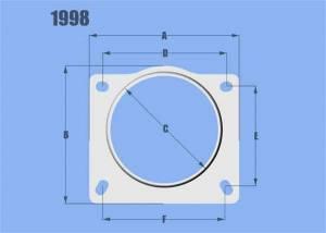 Sensors - Mass Air Flow Sensor Adapter - Vibrant Performance - Vibrant Performance AlMAFSensorVariousApps3ID 1998